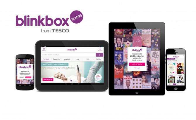 Various devices running the blinkbox books application