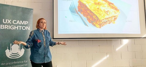 Delivering a presentation - about lasagne?